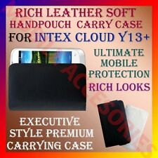 ACM-RICH LEATHER SOFT CARRY CASE for INTEX CLOUD Y13+ MOBILE HANDPOUCH COVER NEW