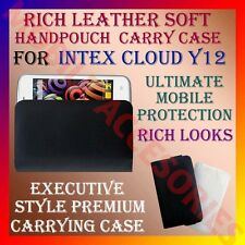 ACM-RICH LEATHER SOFT CARRY CASE for INTEX CLOUD Y12 MOBILE HANDPOUCH COVER CASE