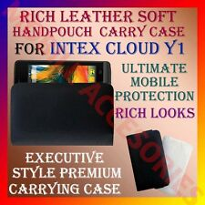 ACM-RICH LEATHER SOFT CARRY CASE for INTEX CLOUD Y1 MOBILE HANDPOUCH COVER CASE