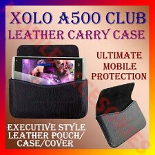 ACM-HORIZONTAL LEATHER CARRY CASE for XOLO A500 CLUB MOBILE POUCH COVER HOLDER
