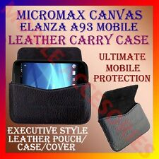 ACM-HORIZONTAL LEATHER CARRY CASE for MICROMAX CANVAS ELANZA A93 POUCH COVER NEW