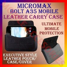 ACM-HORIZONTAL LEATHER CARRY CASE for MICROMAX BOLT A35 MOBILE POUCH COVER CASE