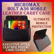 ACM-HORIZONTAL LEATHER CARRY CASE for MICROMAX BOLT A36 MOBILE POUCH COVER CASE
