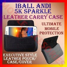 ACM-HORIZONTAL LEATHER CARRY CASE for IBALL ANDI 5K SPARKLE MOBILE POUCH COVER
