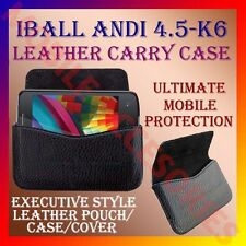 ACM-HORIZONTAL LEATHER CARRY CASE for IBALL ANDI 4.5 K6 MOBILE POUCH COVER NEW