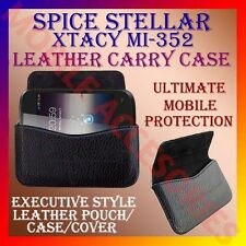 ACM-HORIZONTAL LEATHER CARRY CASE for SPICE STELLAR XTACY MI-352 MOBILE COVER