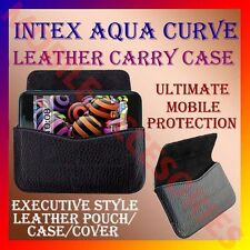 ACM-HORIZONTAL LEATHER CARRY CASE for INTEX AQUA CURVE MOBILE POUCH COVER HOLDER