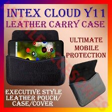 ACM-HORIZONTAL LEATHER CARRY CASE for INTEX CLOUD Y11 MOBILE POUCH COVER HOLDER