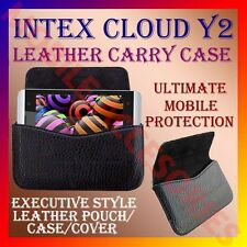 ACM-HORIZONTAL LEATHER CARRY CASE for INTEX CLOUD Y2 MOBILE POUCH COVER HOLDER