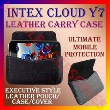 ACM-HORIZONTAL LEATHER CARRY CASE for INTEX CLOUD Y7 MOBILE POUCH COVER HOLDER