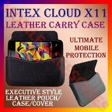 ACM-HORIZONTAL LEATHER CARRY CASE for INTEX CLOUD X11 MOBILE POUCH COVER HOLDER