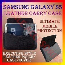 ACM-HORIZONTAL LEATHER CARRY CASE for SAMSUNG GALAXY S5 MOBILE POUCH COVER NEW