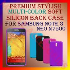 ACM-PREMIUM SOFT SILICON BACK CASE for SAMSUNG GALAXY NOTE 3 NEO N7500 COVER
