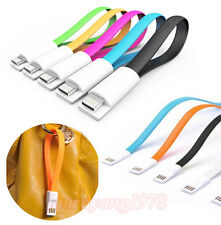 23cm Magnetic 8 Pin Lightning Flat USB Cable for iPhone 5 5S 5C iPad Air Mini