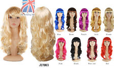 Women's Sexy Long Curly Fancy Dress Wigs Cosplay Costume Ladies Full Wig JF003