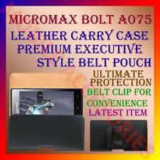 ACM-BELT CASE for MICROMAX BOLT A075 MOBILE LEATHER CARRY POUCH COVER HOLDER NEW