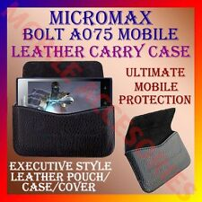 ACM-HORIZONTAL LEATHER CARRY CASE for MICROMAX BOLT A075 MOBILE POUCH COVER CASE
