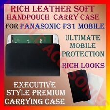 ACM-RICH LEATHER SOFT CARRY CASE for PANASONIC P31 MOBILE HANDPOUCH COVER HOLDER