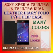 ACM-LEATHER DIARY FOLIO FLIP CASE for SONY XPERIA T2 ULTRA/T2 ULTRA DUAL COVER