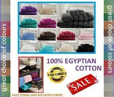 100% EGYPTIAN COTTON SATIN STRIPE LARGE JUMBO BATH SHEET BATH TOWEL HAND TOWEL