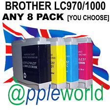 ANY 8 Ink Cartridges compatible with LC970 /LC1000 [not Brother original]