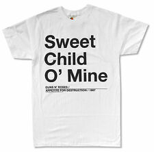 GUNS N ROSES SWEET CHILD O' MINE WHITE T SHIRT NEW OFFICIAL ADULT GNR