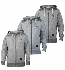 Men's Crosshatch Branded Top Full Zip Jacket Hoodie Jumper Cardigan