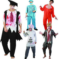Mens Zombie Costume Bloody 28 Days Escaped Patient Butcher Doctor Inmate
