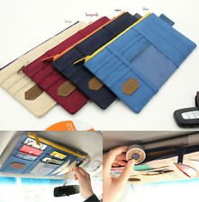 Car Sun Visor Point Pocket Pouch Organizer Multi-Purpose CD Storage Holder Bag