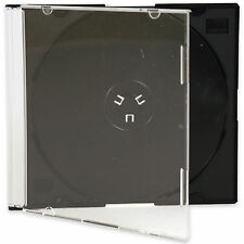 CD / DVD Slimline Jewel 5.2mm Cases for 1 Disc With Black Tray 1 5 10 25 50 100