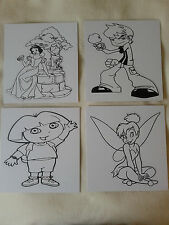 KIDS CHARACTER,COLOUR YOUR OWN POSTER BOARD & PENS,Favors,Boys,Girls,Gift.