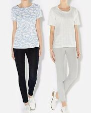 NEW Ex Hobbs Dragonfly or Anchor Print Cotton T-shirt Top XS to L  RRP £35