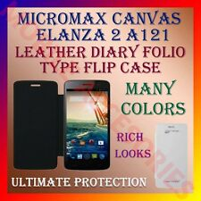 ACM-LEATHER DIARY FOLIO FLIP FLAP CASE for MICROMAX CANVAS ELANZA 2 A121 COVER