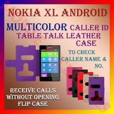 ACM-CALLER ID TABLE TALK CASE for NOKIA XL ANDROID MOBILE FLIP LEATHER COVER NEW