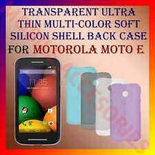 ACM-TRANSPARENT ULTRA THIN MULTICOLOR SILICON for MOTOROLA MOTO E BACK COVER
