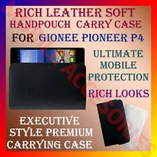 ACM-RICH LEATHER SOFT CARRY CASE for GIONEE PIONEER P4 MOBILE HANDPOUCH COVER