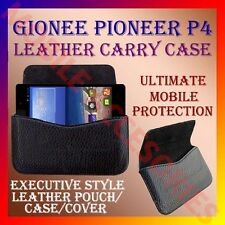 ACM-HORIZONTAL LEATHER CARRY CASE for GIONEE PIONEER P4 MOBILE POUCH COVER NEW
