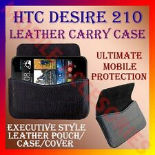 ACM-HORIZONTAL LEATHER CARRY CASE for HTC DESIRE 210 MOBILE POUCH COVER HOLDER
