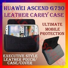 ACM-HORIZONTAL LEATHER CARRY CASE for HUAWEI ASCEND G730 MOBILE RICH POUCH COVER