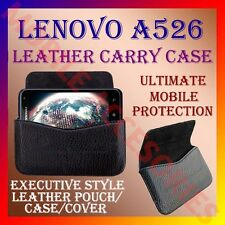ACM-HORIZONTAL LEATHER CARRY CASE for LENOVO A526 MOBILE RICH POUCH COVER HOLDER