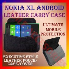 ACM-HORIZONTAL LEATHER CARRY CASE for NOKIA XL ANDROID MOBILE POUCH COVER HOLDER