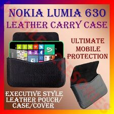 ACM-HORIZONTAL LEATHER CARRY CASE for NOKIA LUMIA 630 MOBILE POUCH COVER HOLDER