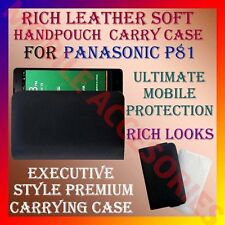 ACM-RICH LEATHER SOFT CARRY CASE for PANASONIC P81 MOBILE HANDPOUCH COVER POUCH