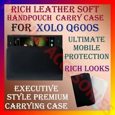ACM-RICH LEATHER SOFT CARRY CASE for XOLO Q600S MOBILE HANDPOUCH COVER POUCH NEW