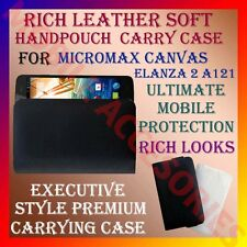 ACM-RICH LEATHER SOFT CARRY CASE for MICROMAX CANVAS ELANZA 2 A121 POUCH COVER