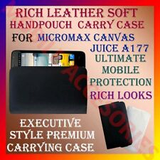 ACM-RICH LEATHER SOFT CARRY CASE of MICROMAX CANVAS JUICE A177 HANDPOUCH COVER