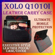 ACM-HORIZONTAL LEATHER CARRY CASE for XOLO Q1010i MOBILE POUCH PREMIUM COVER NEW