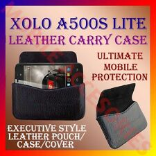 ACM-HORIZONTAL LEATHER CARRY CASE for XOLO A500S LITE MOBILE POUCH COVER HOLDER