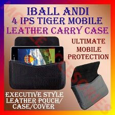 ACM-HORIZONTAL LEATHER CARRY CASE for IBALL ANDI 4 IPS TIGER MOBILE POUCH COVER