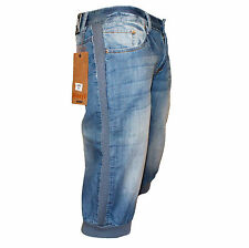Pantaloni Shorts Always Jeans Uomo Slim Fit Denim Taglia 42 44 46 48 50 52 54